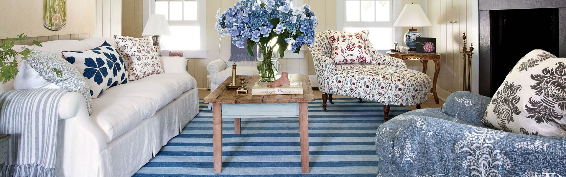 Hamptons Style Floral Look With The Furnishing Centre